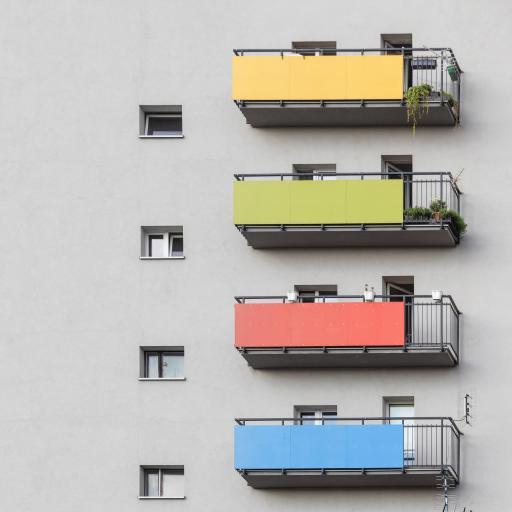 建筑 楼房 阳台 外观 色彩
