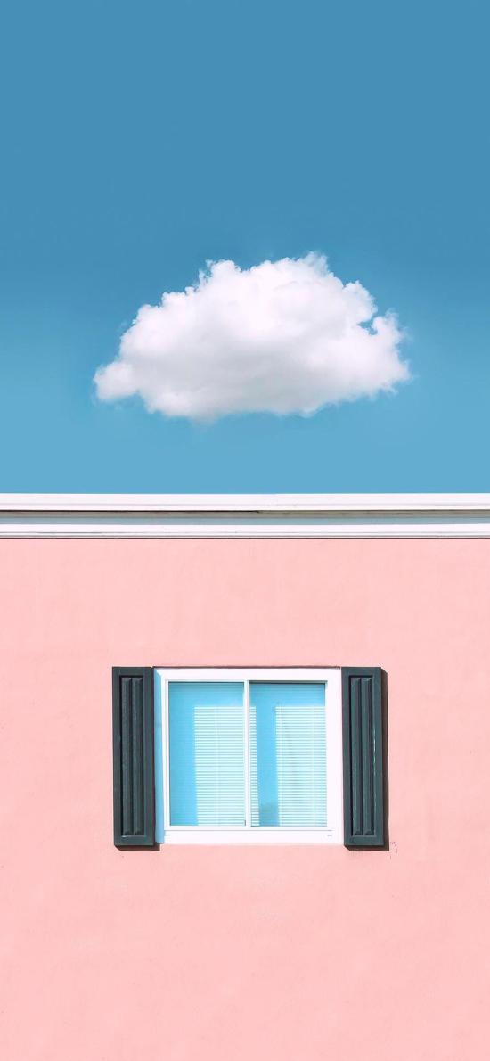 房屋 建筑 窗戶 云朵
