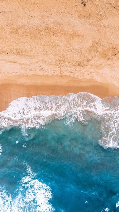 海浪 海水 沙滩 俯拍