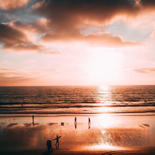 唯美海景 夕阳 落日余晖