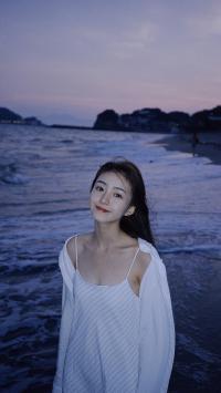 Duebass 网红 女孩 海边 吊带裙