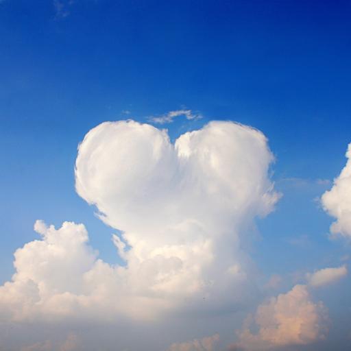 天空 蓝天白云 心形 爱心 浪漫