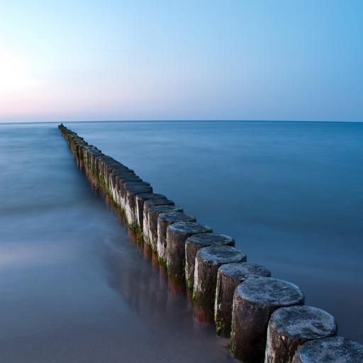 大海 海岸 木桩 蓝色