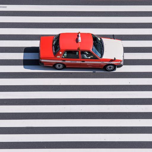 的士 出租车 人行道