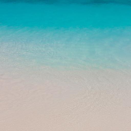 景色 海岸 海水 清澈 沙滩 渐变
