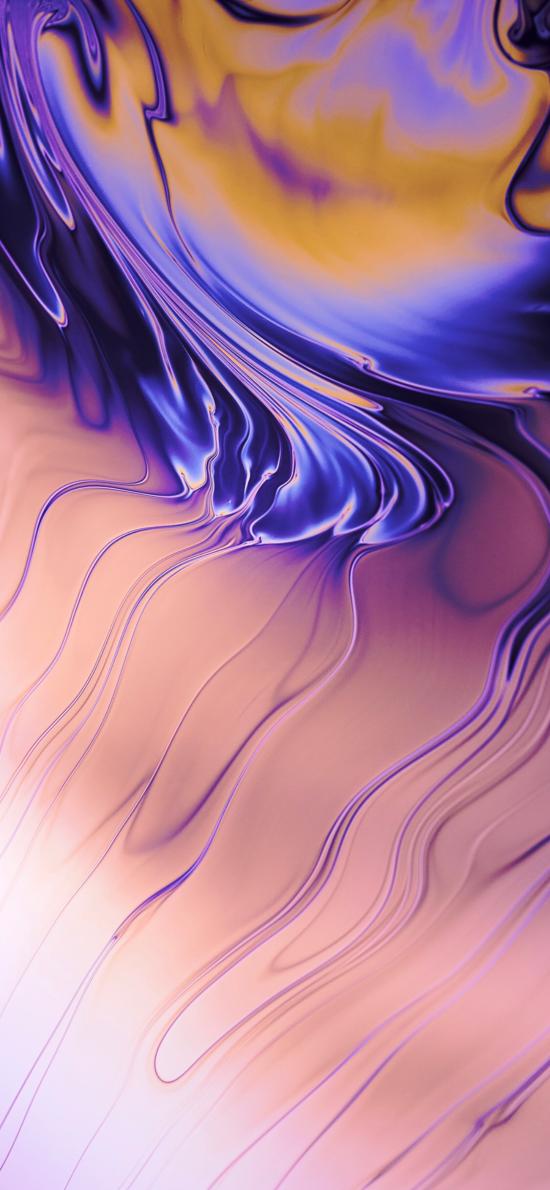 抽象 流动 紫色 炫丽 渐变