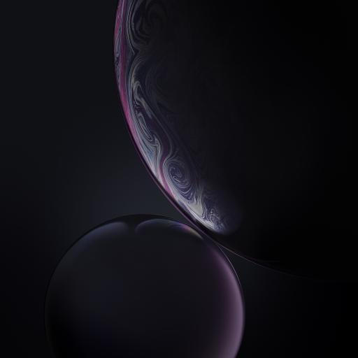 气泡 原生 iPhone xs 内置 紫色