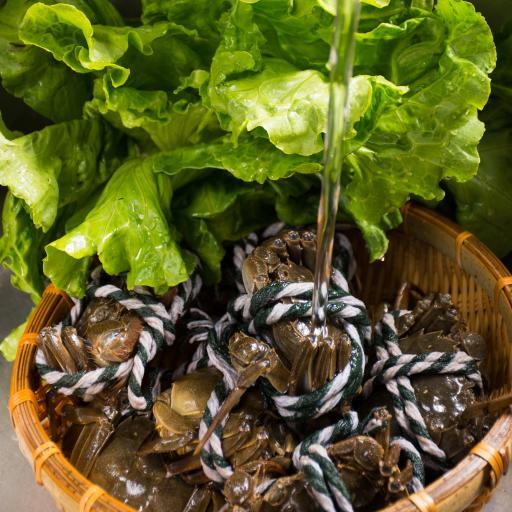 螃蟹 河鲜 大闸蟹 生菜