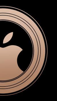iPhone xs 苹果 logo 标志 圆 品牌 黑色