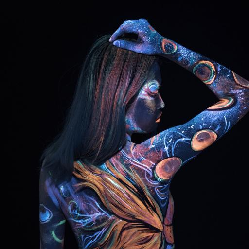 人体彩绘 艺术 色彩