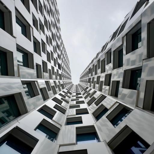 城市 建筑 高楼 弧度