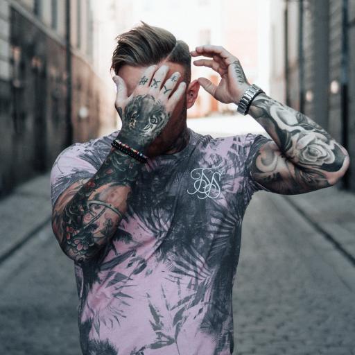 欧美 型男 街拍 纹身