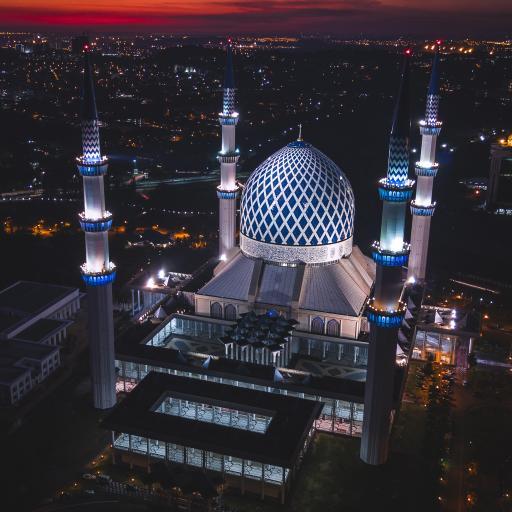 建筑 夜晚 异域 城堡 灯光