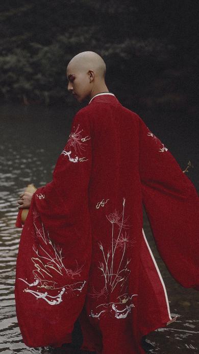 青暮从山 佛系 和尚 摄影 背影