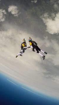 跳伞 运动 高空 极限 刺激
