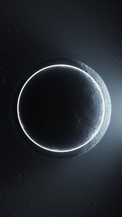 月球 圆形 宇宙 星空 几何