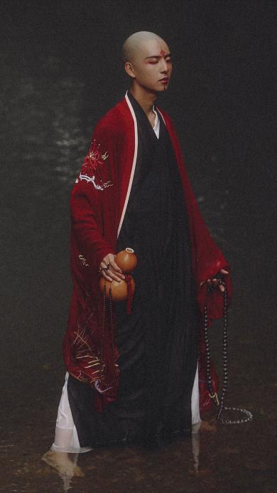 青暮从山 佛系 和尚 摄影 酒壶