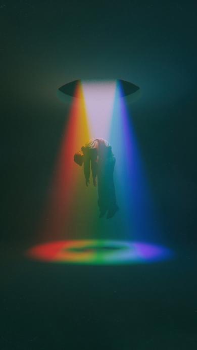 光 彩虹 人 起飞