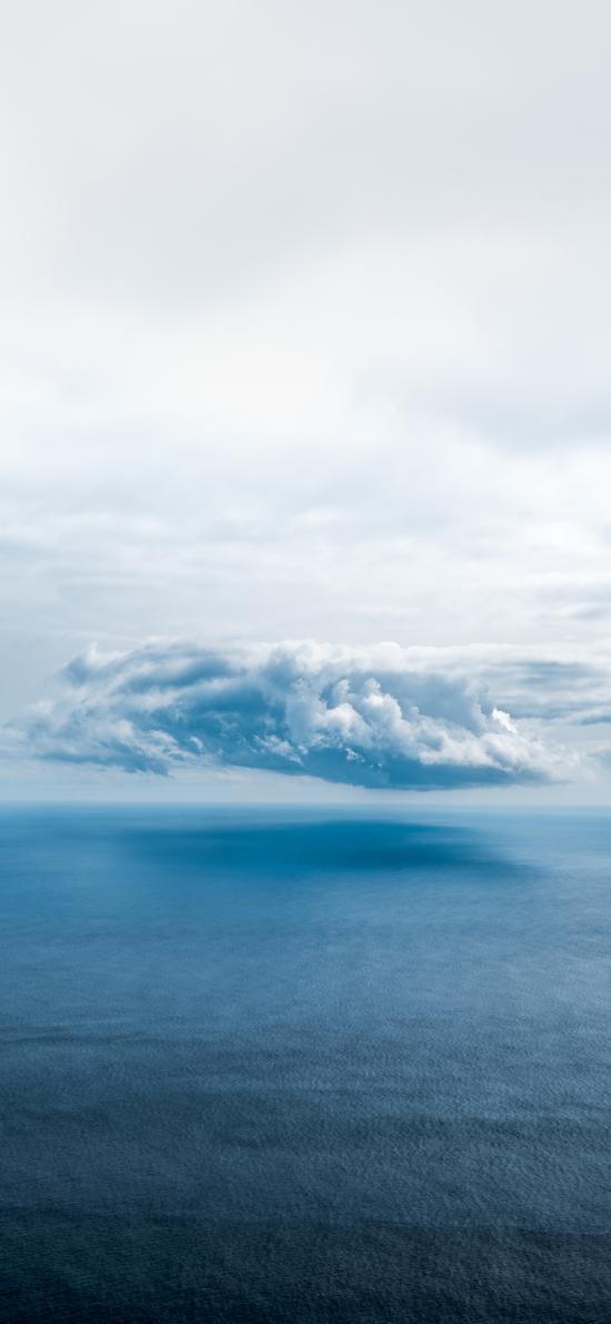 海面 云层 景色 远眺