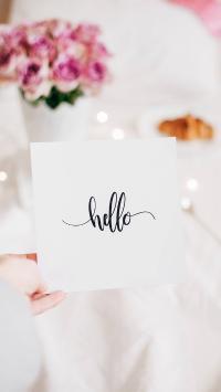 卡片 问候 单词 hello