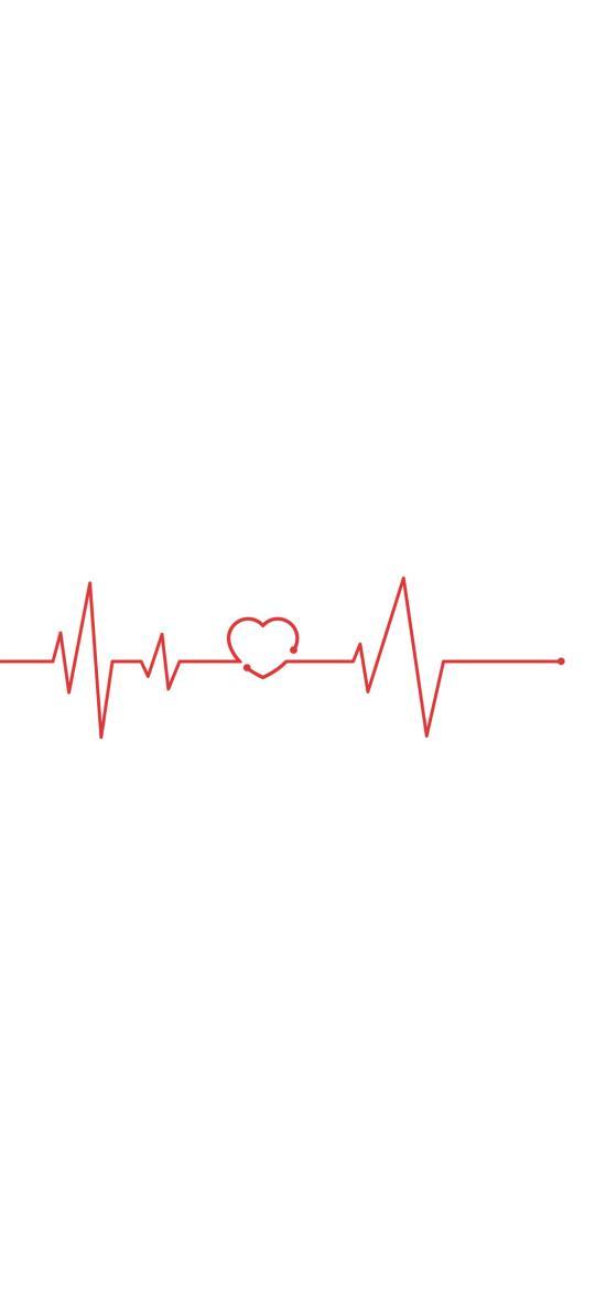 心跳 心电图 爱心 心形 线条