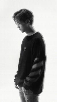 鹿晗 歌手 演员 明星 狍子 黑白