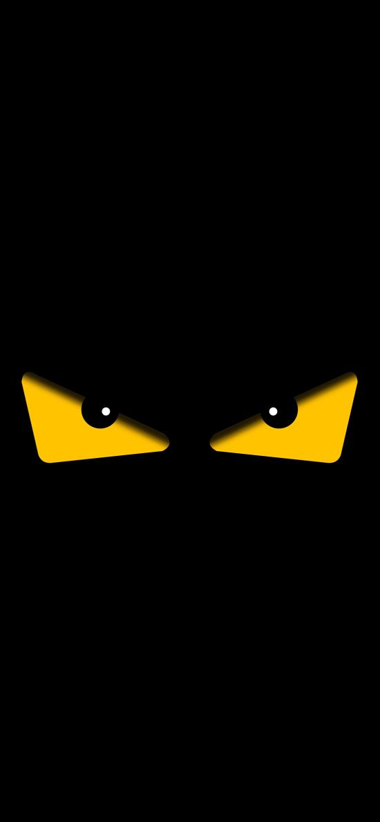 小恶魔 眼睛 黑色 邪恶