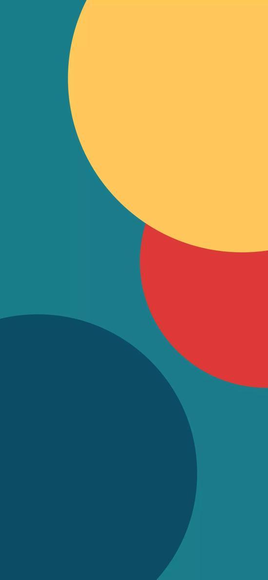 圆 几何 色彩 构成 平面