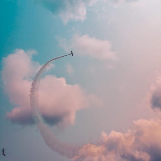 天空 云朵 飞机 喷气式