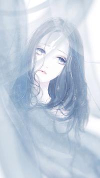 日系 插画 女孩 唯美