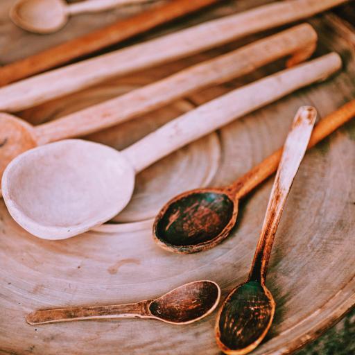 木勺 工艺品 雕刻 餐具