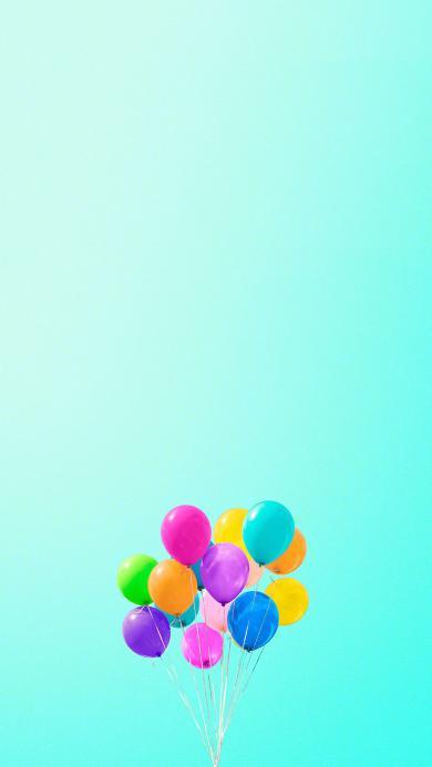 气球 蓝天 色彩