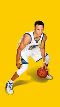 库里 篮球 运动员 NBA 勇士队 黄色