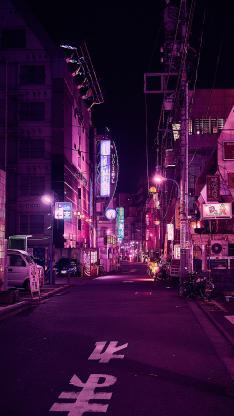 街道 日本 夜 城市