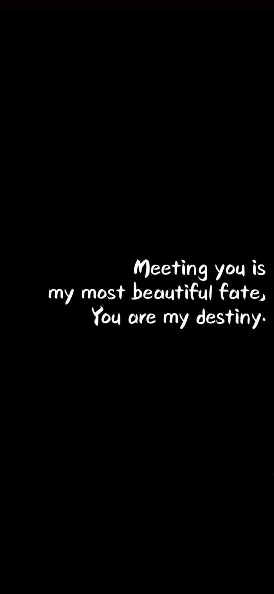 遇见你是我最美丽的注定 英文 表白 黑色