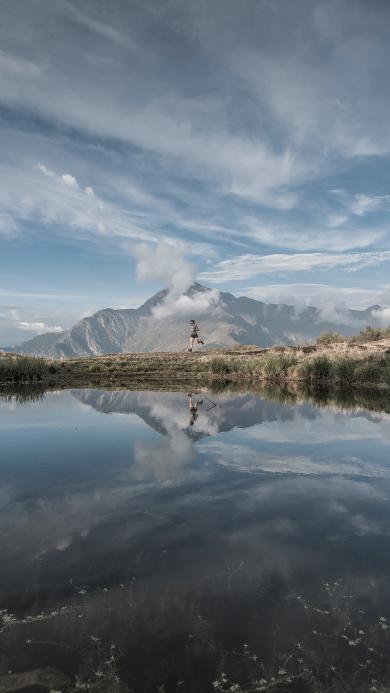 自然美景 天空 山川 湖泊 倒映