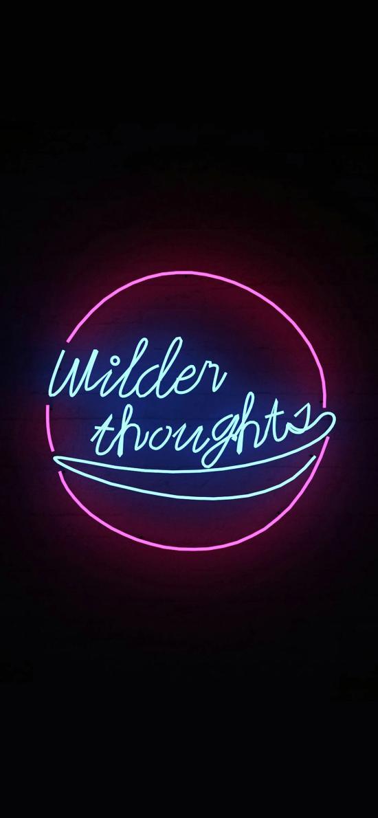 wilder thoughts 狂热 迷失 思想 英文 英语 灯光