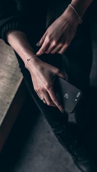 手机 iPhone 饰品 手部 肢体