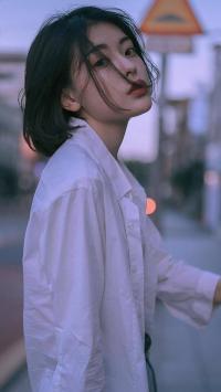 短发女孩 街拍 复古 写真