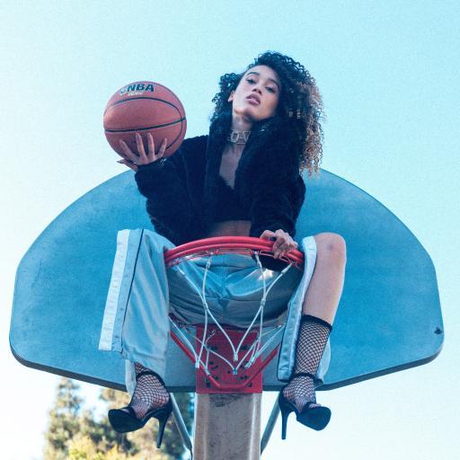 体育设施 篮球框 篮球 欧美美女 写真