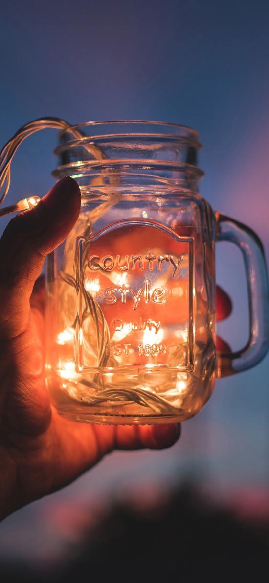 灯串 小灯泡 玻璃瓶 发光 装饰
