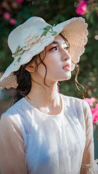 女孩 艺术照 拍摄 帽子