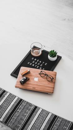 笔记本 眼镜 静物 iMac