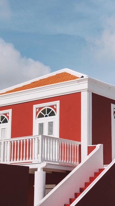 建筑 天空 阶梯 房屋