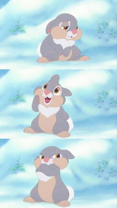 动画 小鹿斑比 桑普兔 打手