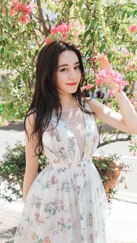 迪丽热巴 演员 明星 艺人 鲜花