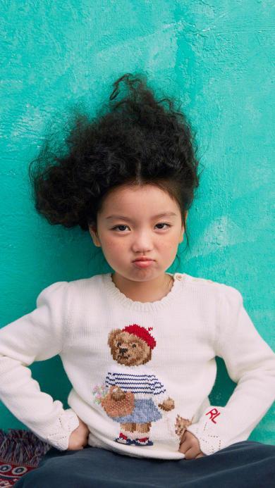 阿拉蕾 崔雅涵 小女孩 萌 可爱 爆炸头 时尚