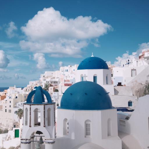 圣托里尼岛 希腊 爱情海 浪漫 蓝白