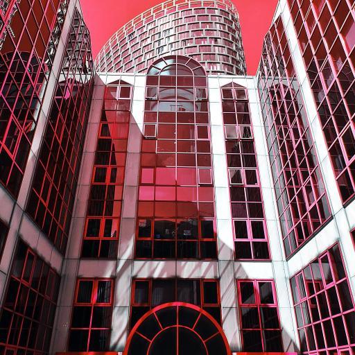 建筑 红色 现代 楼房