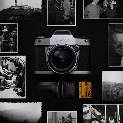 相机 黑白 照片 底片